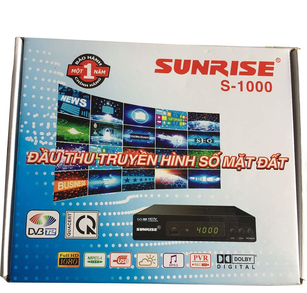 Đầu thu truyền hình số mặt đất Sunrise S-1000 (Đen)